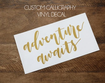 custom calligraphy vinyl decal | car decal | car sticker | custom sticker | custom decal | laptop decal