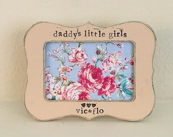 Dad gift Daddy gift Daddys little girl personalized picture frame Dad frame Father's Day picture frame from daughter - flowers in December