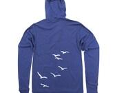 Flight of Seagulls Unisex Lightweight Zip Hoodie