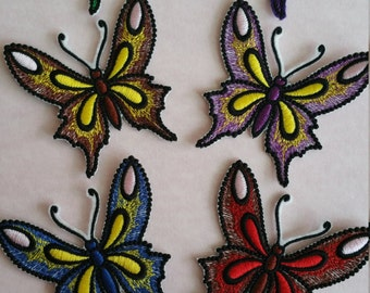 Iron on butterfly Embroidered butterfly Sew on patch butterfly Embroidery butterfly Butterfly patch Butterfly applique Iron on applique