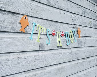 It's a boy baby shower decorations, fishing baby shower, fishing shower, boy baby shower, fishing decorations, fishing party decorations