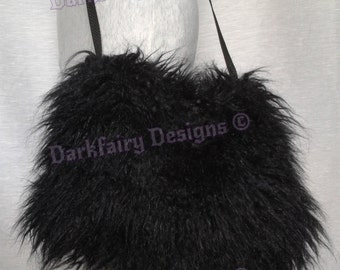 Up-cycled faux fur bag