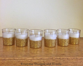 12 fine gold votives, wedding centerpiece, votive candle holder, wedding decorations, bridal shower centerpiece, gold , gold wedding decor