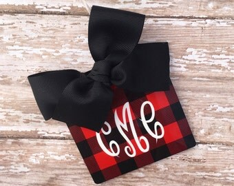 Personalized/Monogrammed Buffalo Plaid Luggage/Bag Tag