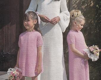 PDF crochet wedding dress vintage crochet pattern pdf INSTANT download butterfly dress pattern only pdf bridesmaid