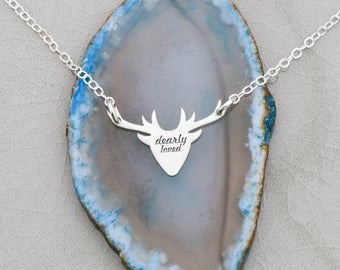 SALE • Deer Necklace • Antler Jewelry Deer • Custom Antler Pendant • Deer Antler • Personalized Deer Charm • Hunting Necklace Animal Jewelry
