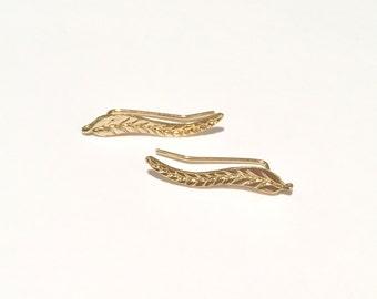 Leaf Climber/Crawler Earrings