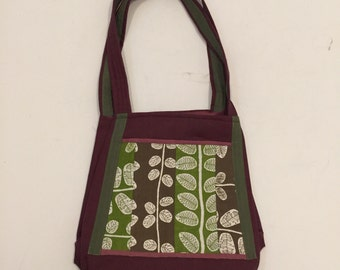 Green Leaves Handmade Womens Handbag