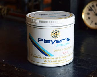 Player's Extra Light Tobacco Tin - French Language - 200g - Player's Navy Cut