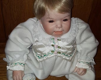 "Lee Middleton Porcelain 18"" Doll  by Reva Schick  Numbered and Signed"