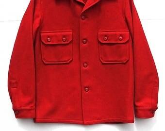 Official Boy Scouts Red Wool Shirt Jacket, Collectible Uniform, Classic Sportswear, Men Women Teen, Camping Hiking Bushcraft, Outdoor Sports