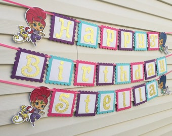 Shimmer and Shine Banner - Shimmer and Shine Party Decorations - Shimmer & Shine Birthday Banner - Shimmer Shine Banner