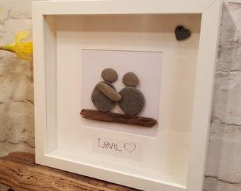 Love - Cornish Pebble Art Picture