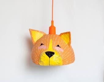 Cat Lamp - Kids Lamp - Cat Nursery Decor - Nursery Lighting - New Baby Gift - Childrens Lamps - Kids Room Decor - Kids Gift - Ceiling Lamp -