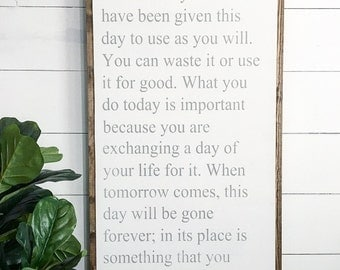 24x48 This is the beginning of a new day | let it be something good | custom wood sign | inspirational quote | scripture Quote | fixer upper