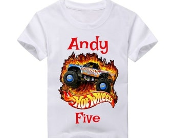 Hot Wheels Birthday Shirt.  2nd Birthday 3rd Birthday 4th Birthday 5th Birthday Boys birthday 6th Birthday