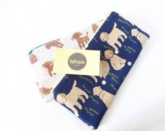 Dog Lover Gift. Vet Gift. Vet Tech Gift. GOLDEN Retriever & POODLE-COCKAPOO. Golden Retriever. Poodle Bag. Cockapoo Gift. Cute Dog Pouch.
