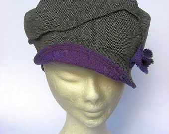 hat cap newsboy, vintage inspired,  sportiv elegant