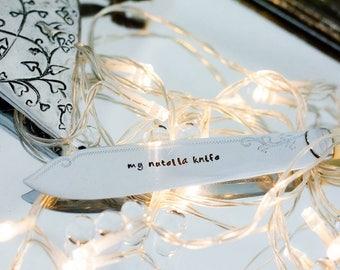 My Nutella Knife - Hand Stamped Engraved Knife - Vintage Knife - Nutella Gift