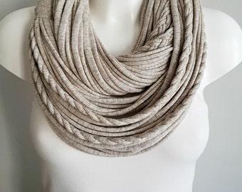 T shirt scarf, t shirt infinity scarf, chain scarf, fabric scarf, cotton fabric scarf, loop scarf