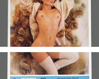 1982 Playboy Playmate Desk Calendar Vintage Nude Calendar
