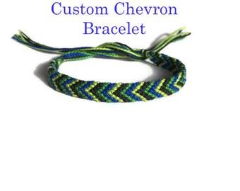 Custom Chevron Bracelet, Friendship Bracelet, String Bracelet, Thread Bracelet, Best Friend Bracelet, Knotted Bracelet, Friendship Jewelry