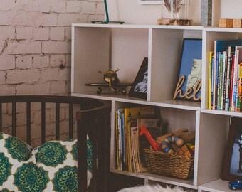 Eco Friendly 3-Shelf Bookcase Shelving - Pearl White Simple Bookshelf Storage Shelf Tool-Free Assembly LIFETIME WARRANTY (ps-3s-1-we)