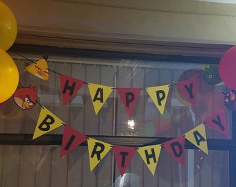 Angry Birds Banner/ Angry Birds birthday banner