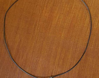 Larimar Sterling Silver Pendant Leather Choker, Caribbean Larimar Necklace, Larimar Jewelry, Boho Jewelry, Beach Jewelry, Larimar Charm