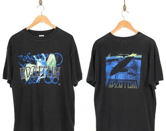 Vintage Led Zeppelin T-shirt - 1995 Led Zeppelin Zoso Swan Song Black T-shirt - 90s Led Zeppelin Tour T-shirt - Rock tee - Band T-shirt