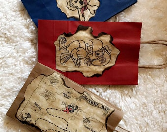 Pirate theme candy bags