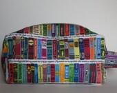Medium Rory's World of Books Knitting & Crochet Project/Toiletry Box Bag
