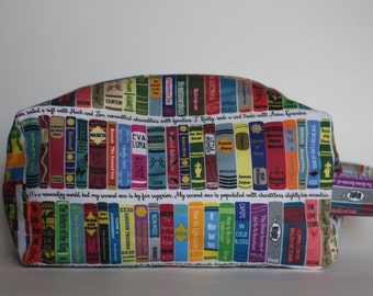Medium Rory's World of Books Knitting & Crochet Project/Toiletry Box Bag
