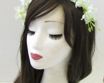 Ivory White Cream Wisteria Flower Headband Headpiece Headpiece Fascinator 961