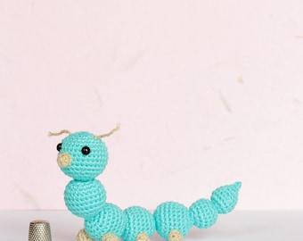Amigurumi dieren, speelgoed Caterpillar, worm gehaakte Amigurumi, gehaakte Amigurumi Caterpillar, maggot amigurumi, gevulde Caterpillar amigurumi