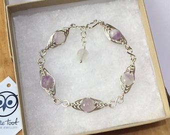 Lavender Amethyst Bracelet