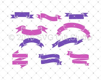 Ribbon Banners SVG Cut Files, Banner SVG, Ribbon SVG Cut Files for Cricut, Silhouette and other Vinyl Cutters, svg files