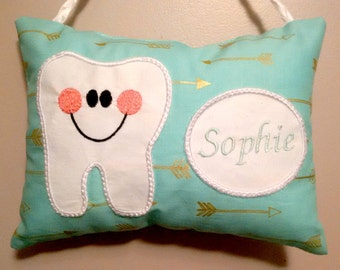 Personalized Tooth Fairy Pillow with Pocket