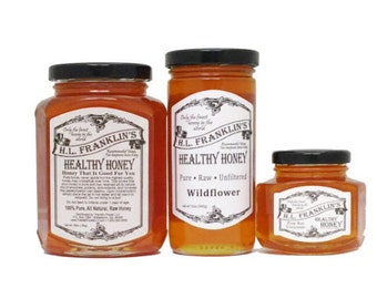 Pure, Raw, Unfiltered Wildflower Honey - Never Heated or Processed - H.L. Franklin's Healthy Honey