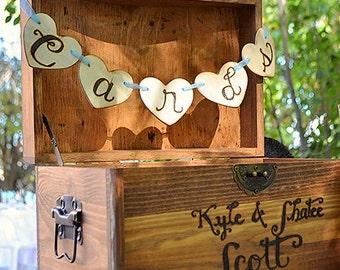 Card Box, wedding gift box, brown, wedding keepsake card box