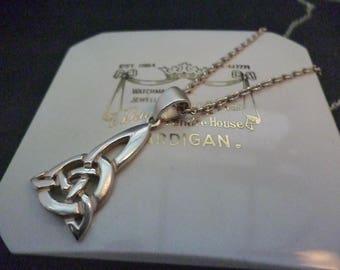 """A superb sterling silver Celtic pendant necklace - 925 - Pendant 1.6"""" - Necklace 20"""""""