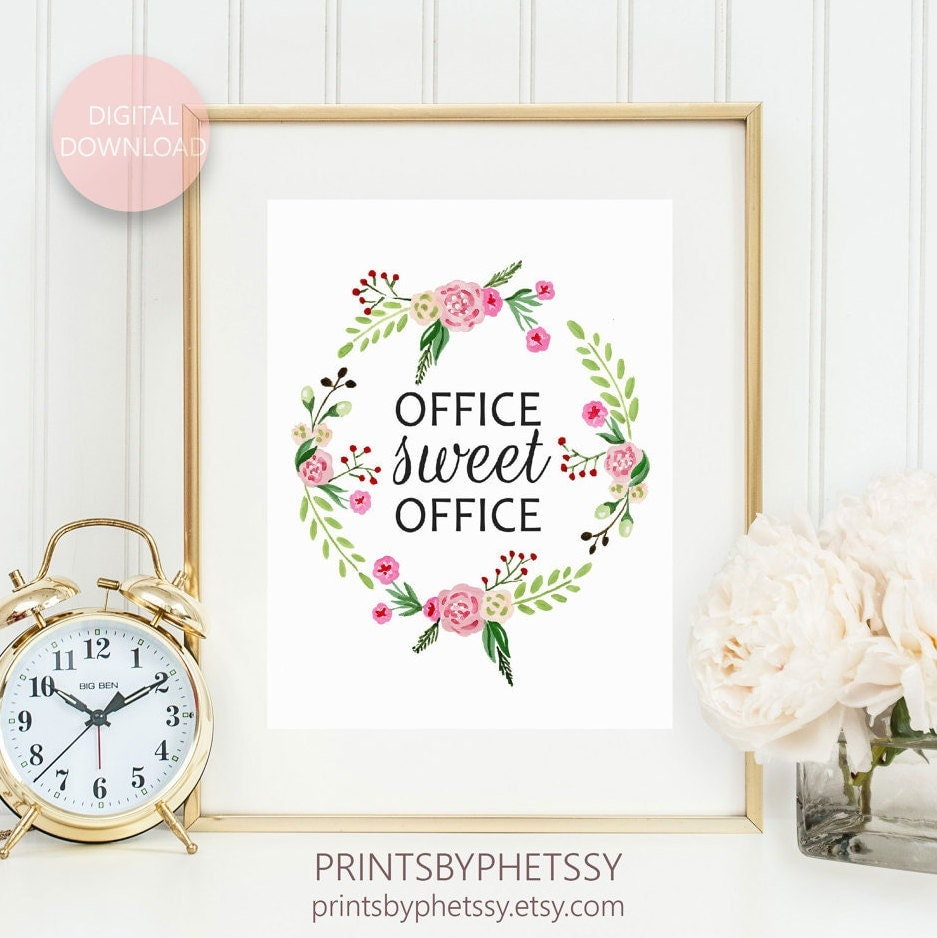 Cute Office Wall Decor : Office sweet cute decor printable wall