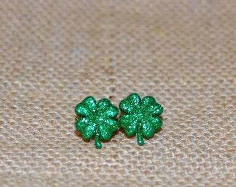 St. Patrick's Day, Shamrock Earrings, Shamrock Jewelry, Luck of the Irish Earrings, Clover Earrings, Clover Jewelry, Lucky Jewelry