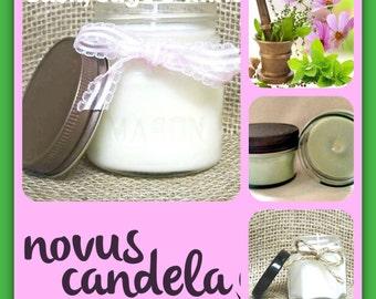 Soy Candle Mason Jar ~ Basil Sage and Mint Scented Soy Candle ~ Mason Jar Candle ~ Soy Candle ~ Scented Candle ~ Handmade Candle 2, 4 & 8 oz