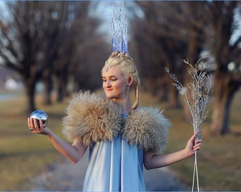 Snow queen icicles crown, Jadis White Witch Narnia cosplay headpiece, winter fantasy crown