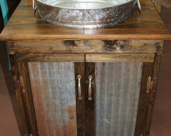 Rustic Vanity  Reclaimed Metal Custom Bathroom Cabin Furni vanity Etsy
