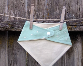 Baby and Toddler Bibdana Bib, Drooler Bib Geometric Mint Modern