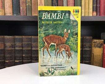 Bambi - Vintage Book - Vintage Paperback - Felix Salten - Tempo Books - 1964 - Grosset And Dunlap - Classic Story - Children's Book