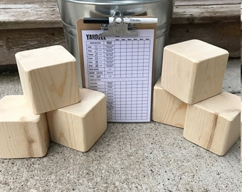 DIY Yardzee game set - farkle game set - make your own