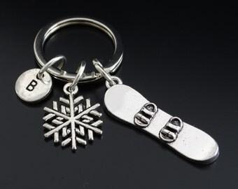 Snowboarder Keychain, Custom Keychain, Custom Key Ring, Snowboarder Pendant, Snowboarder Charm, Snowboarder Jewelry, Snowboard Gifts